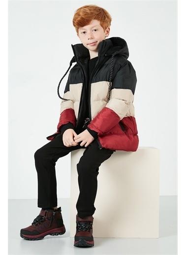 Lela Lela İçi Peluş Astarlı Çıkarılabilir Kapüşonlu Şişme Mont Erkek Çocuk   Renkli